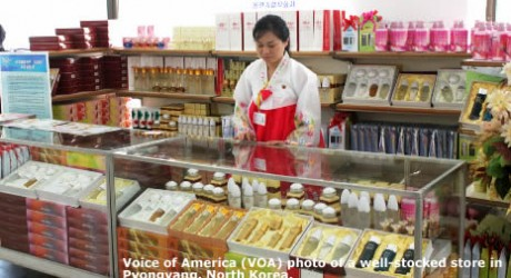 Photo of  Well-Stocked Store in Pyongyang  from  VOA Report